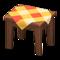 Wooden Mini Table (Dark Wood - Orange) NH Icon.png