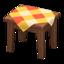 Wooden Mini Table (Dark Wood - Orange)