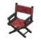 Director's Chair (Black - Chic Pleather) NH Icon.png