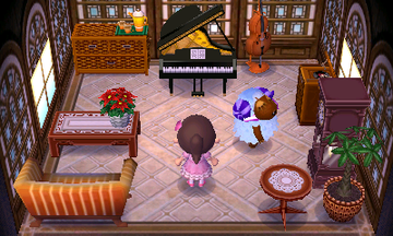 Interior of Baabara's house in Animal Crossing: New Leaf