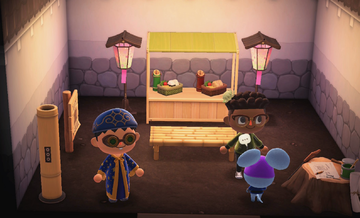 Interior of Rizzo's house in Animal Crossing: New Horizons