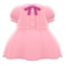 Pintuck-Pleated Dress (Pink) NH Icon.png