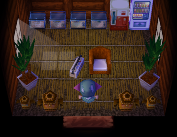 Interior of Scoot's house in Animal Crossing