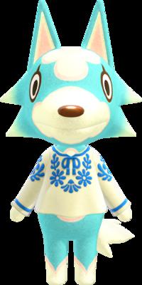 Skye, an Animal Crossing villager.