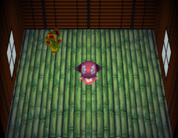 Interior of Annalise's house in Animal Crossing