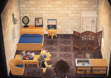 Interior of Vivian's house in Animal Crossing: New Horizons
