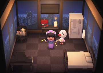 Interior of Piper's house in Animal Crossing: New Horizons