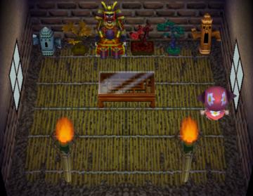 Interior of Rollo's house in Animal Crossing