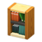 Wooden-Block Bookshelf (Mixed Wood) NH Icon.png