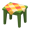 Wooden Mini Table (Green - Orange) NH Icon.png