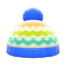 Colorful Striped Knit Cap (Blue) NH Icon.png