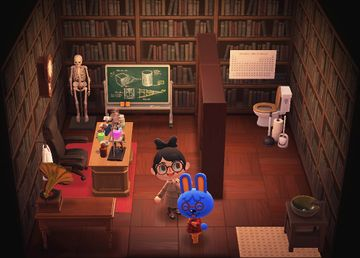 Interior of Doc's house in Animal Crossing: New Horizons