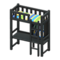 Loft Bed with Desk (Black - Green Stripes) NH Icon.png