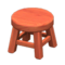 Wooden Stool (Cherry Wood - None) NH Icon.png