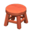 Wooden Stool (Cherry Wood - None)