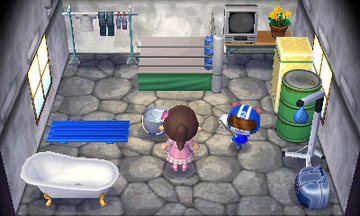 Interior of Agent S's house in Animal Crossing: New Leaf