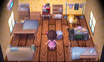 Interior of Benjamin's house in Animal Crossing: New Leaf