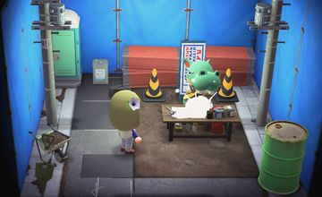 Interior of Rocco's house in Animal Crossing: New Horizons