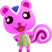 Peanut, an Animal Crossing villager.