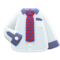 Work Shirt (Red-Striped Necktie) NH Icon.png