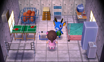 Interior of Bam's house in Animal Crossing: New Leaf