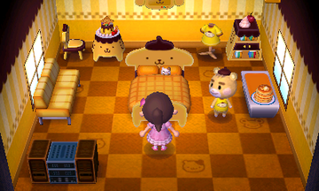 Interior of Marty's house in Animal Crossing: New Leaf