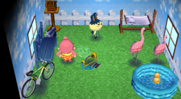 Interior of Pippy's house in Animal Crossing: City Folk