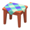 Wooden Mini Table (Cherry Wood - Blue) NH Icon.png