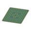 Green Kilim-Style Carpet