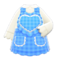 Heart Apron (Blue) NH Icon.png