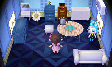 Interior of Francine's house in Animal Crossing: New Leaf