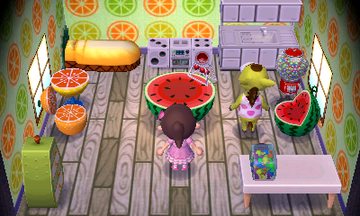Interior of Clyde's house in Animal Crossing: New Leaf