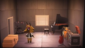 Interior of Kyle's house in Animal Crossing: New Horizons