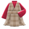 Checkered Jumper Dress (Red) NH Icon.png