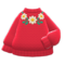 Flower Sweater (Red) NH Icon.png