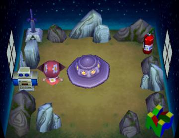 Interior of Octavian's house in Animal Crossing