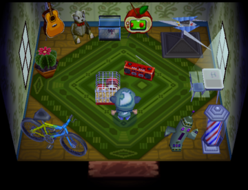 Interior of Pudge's house in Animal Crossing