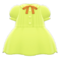 Pintuck-Pleated Dress (Lime) NH Icon.png