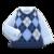 Argyle Vest (Blue) NH Icon.png