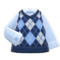 Argyle Vest (Blue) NH Icon.png