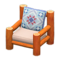 Log Chair (Orange Wood - Quilted) NH Icon.png