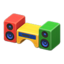 Wooden-Block Stereo (Colorful)