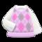 Argyle Vest (Pink) NH Icon.png