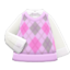 Argyle Vest (Pink) NH Icon.png