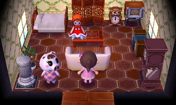 Interior of Lucy's house in Animal Crossing: New Leaf