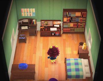 Interior of Mott's house in Animal Crossing: New Horizons