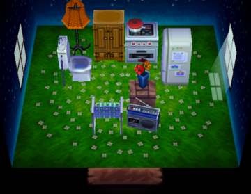 Interior of Puddles's house in Animal Crossing