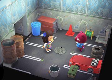 Interior of Rasher's house in Animal Crossing: New Horizons