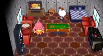 Interior of Tiffany's house in Animal Crossing: City Folk