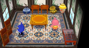Interior of Tom's house in Animal Crossing: City Folk